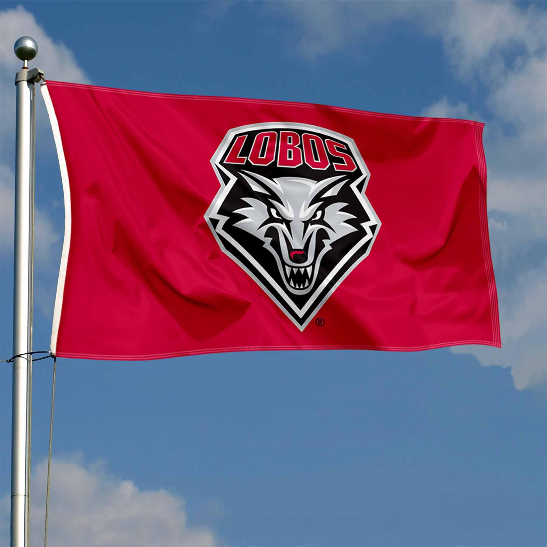 University of New Mexico Lobos Flag UNM Large 3x5