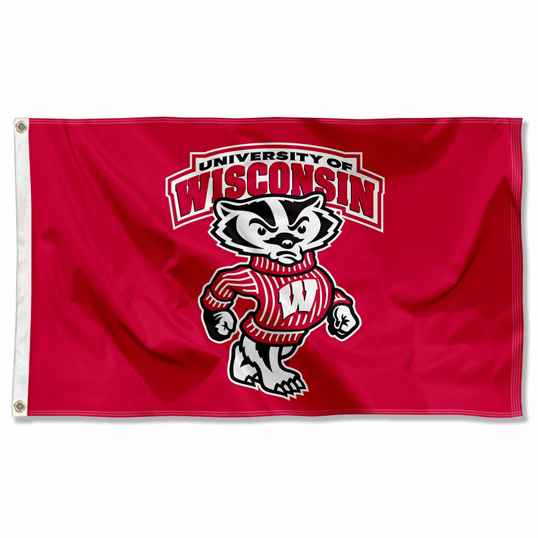 University of Wisconsin Badgers Flag UW Bucky Large 3x5
