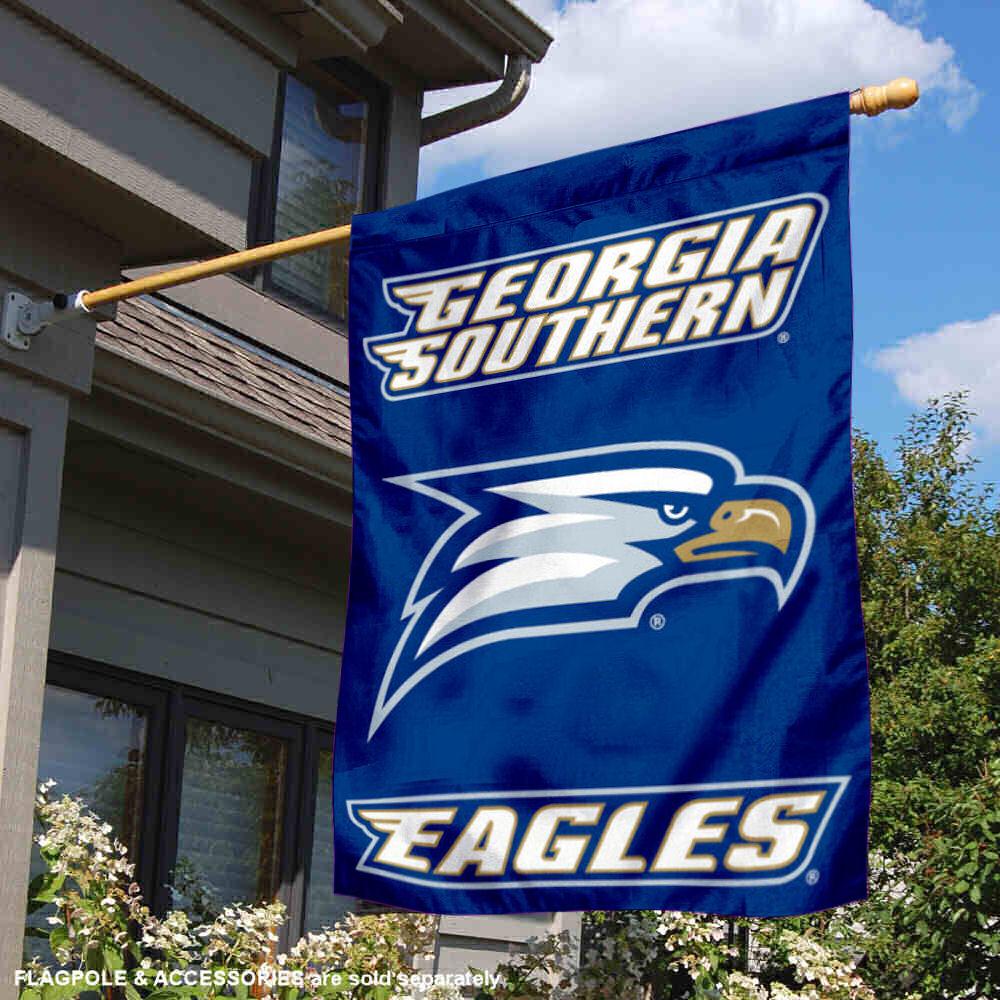 "Georgia Southern University Eagles 28/"" x 40/"" Double Sided House Flag"