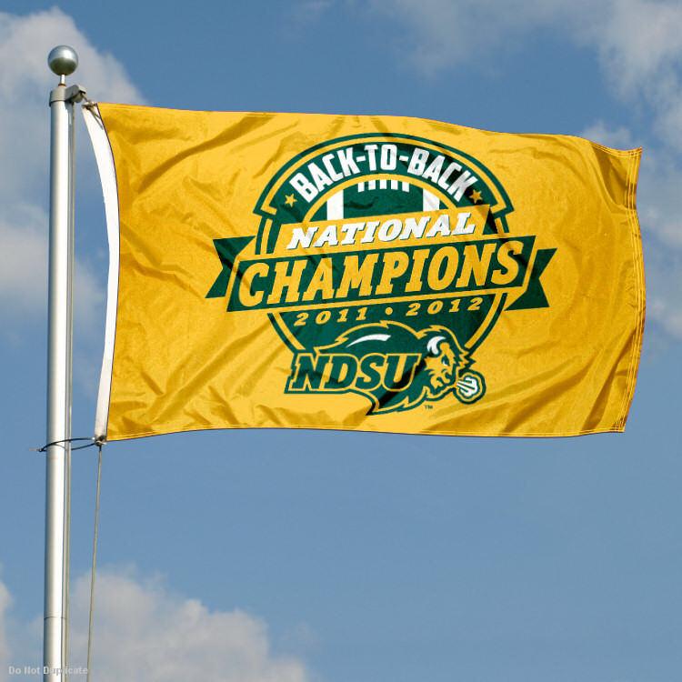 NDSU Bison 2012 Div I National Champs Flag