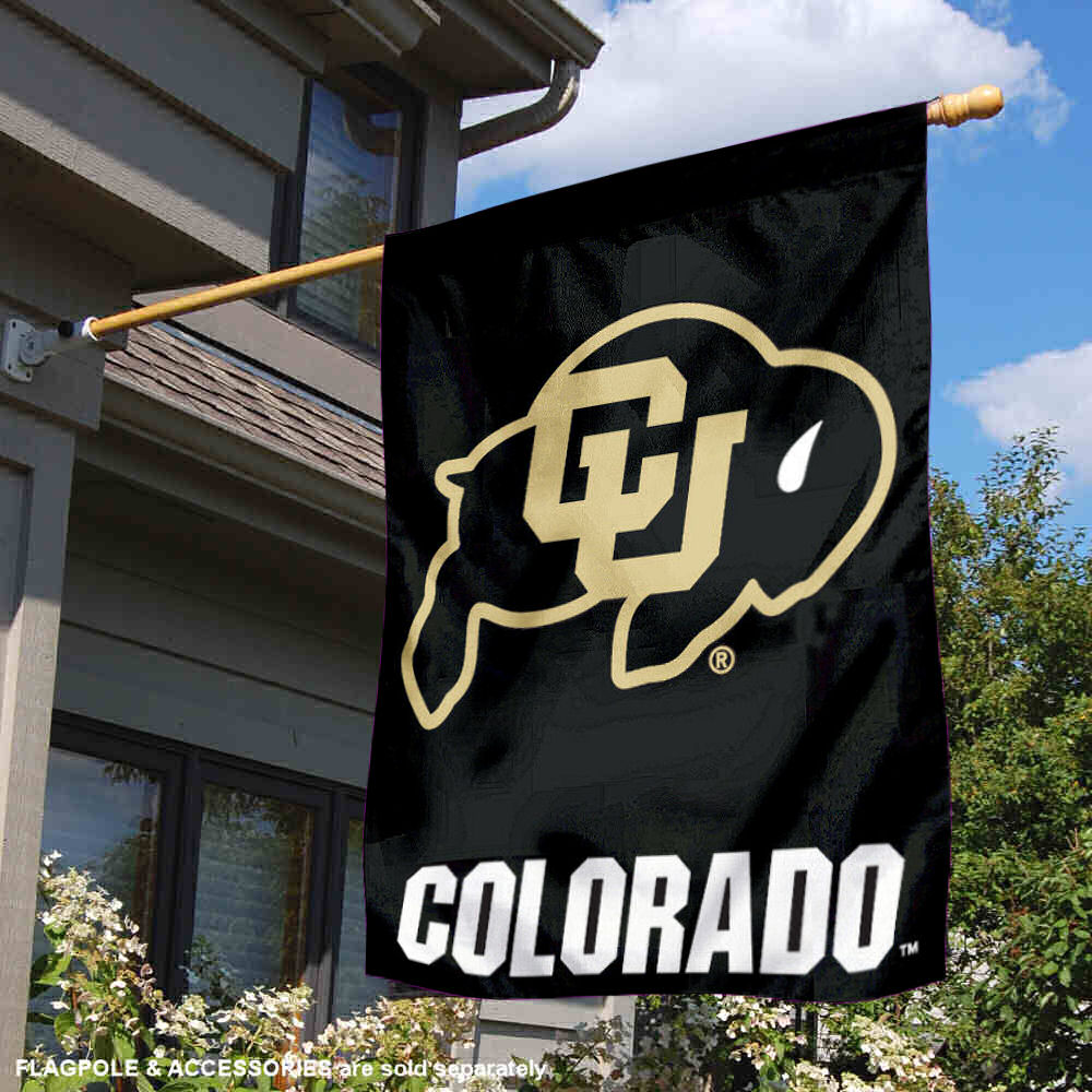 Colorado Buffaloes CU University College House Flag