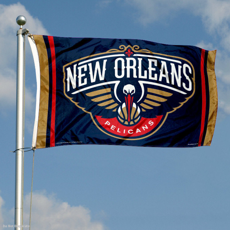 New Orleans Pelicans Host Denver Nuggets How To Watch: New Orleans Pelicans Flag Large 3x5 848267025813