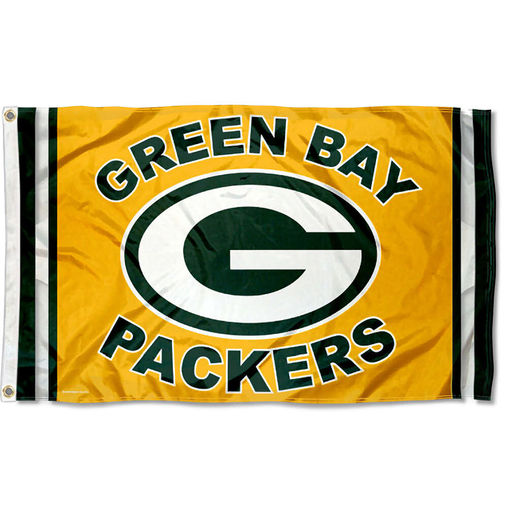 Green Bay Packers Green and Gold NFL Flag Tailgating Banner ... 51efa8091