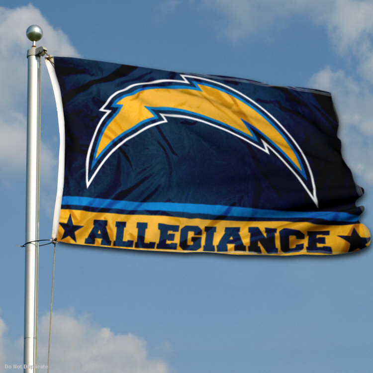 San Diego Chargers Flag: LA Chargers Allegiance Two Sided Flag 848267045415