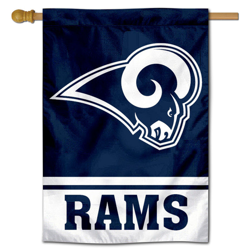 4fa0e9292bb NFL Los Angeles Rams White Horns House Flag and Banner 43662057555 ...