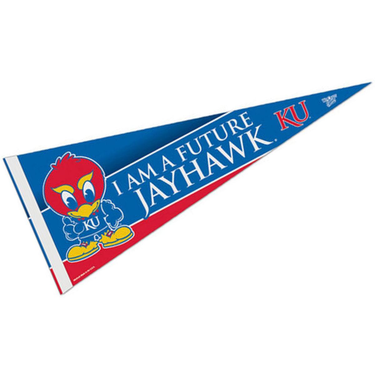 """Kansas Jayhawks Full Size 12/"""" X 30/"""" College Basketball NCAA Pennant"""