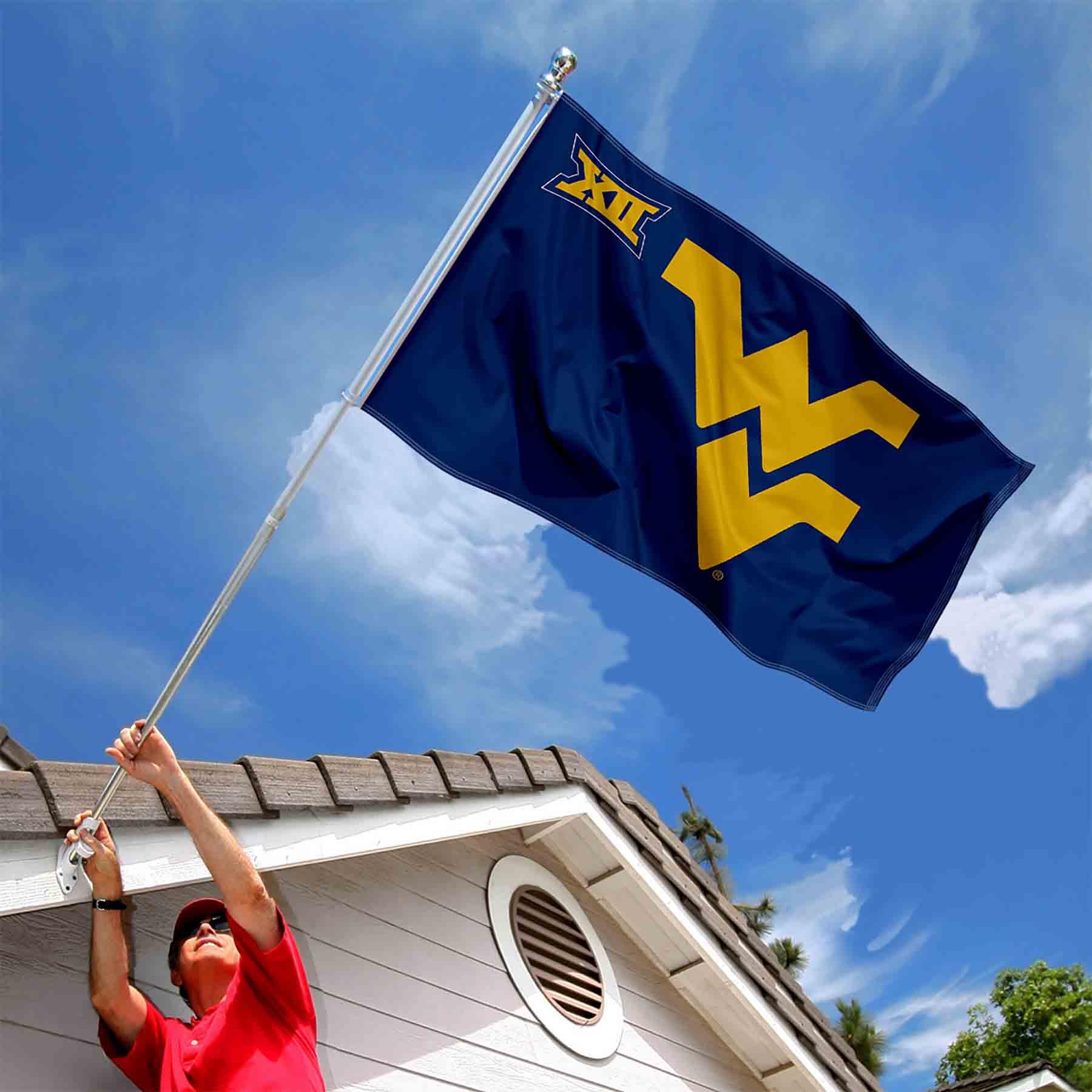 WVU Mountaineers WVU Big 12 Flag 3x5 Banner