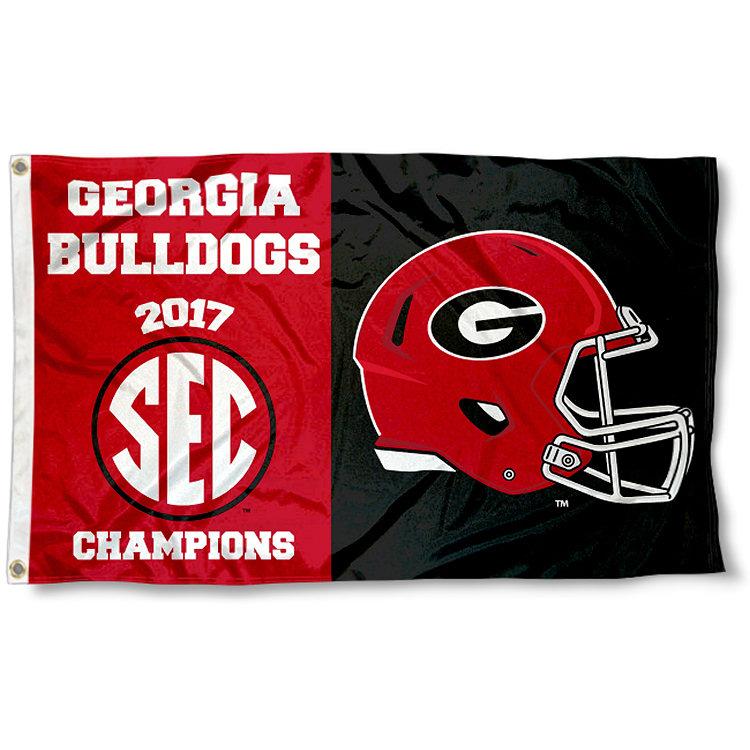 Georgia Bulldogs 2017 Sec Champions >> Georgia Bulldogs 2017 SEC Champions Flag Large 3x5 848267063013 | eBay