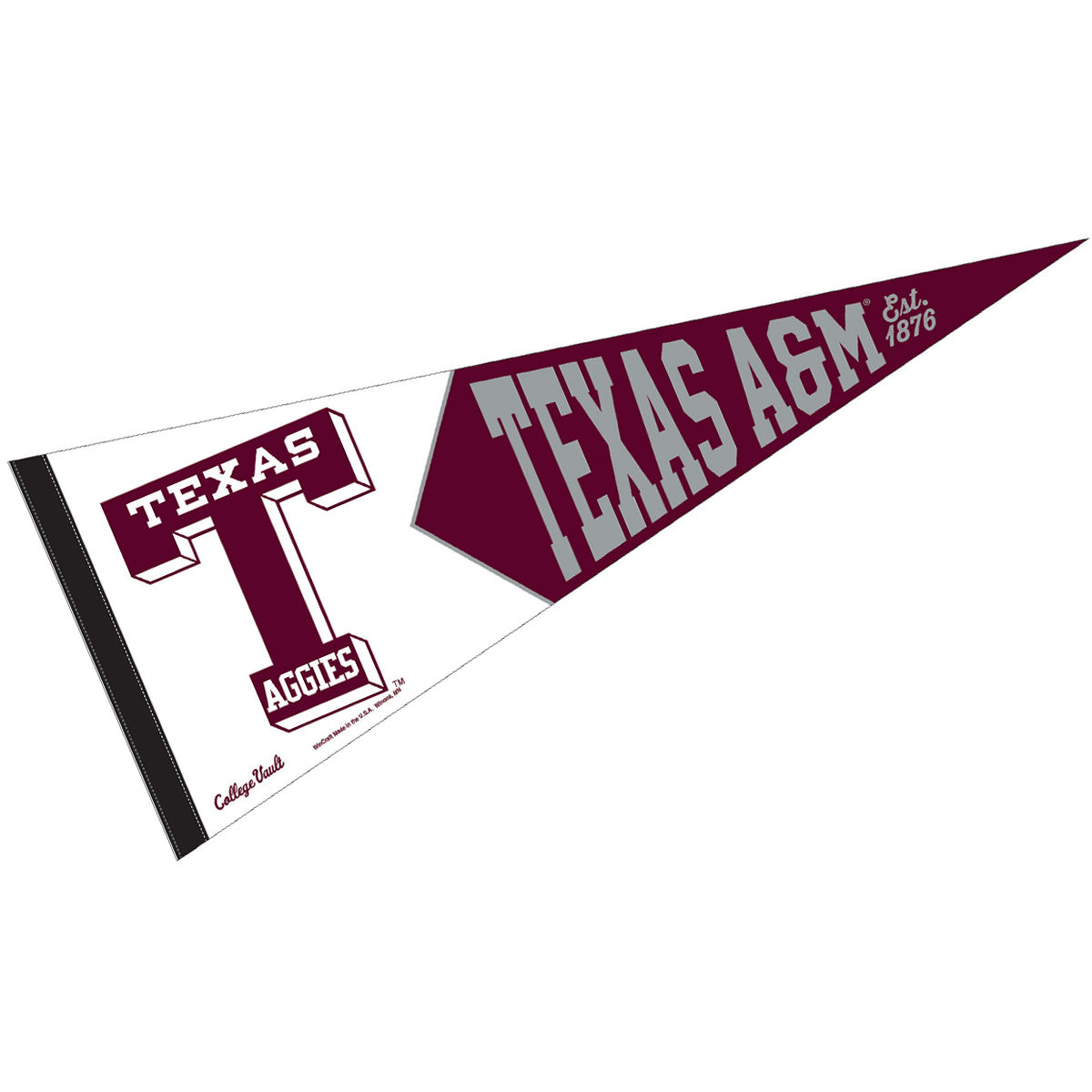 Texas A&M Aggies Vault Throwback Vintage Retro NCAA College Pennant ...